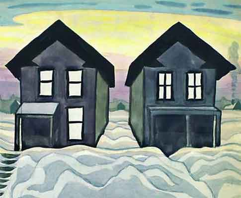 Charles Burchfield Paintings of Houses: Haunted House Pictures?