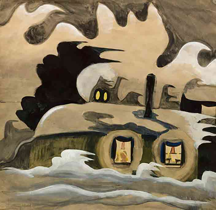 Charles Burchfield Haunted House Art Paintings