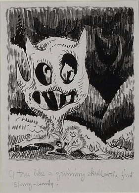 Charles Burchfield- Tree Like a Grinning Skull - Radiohead bear?