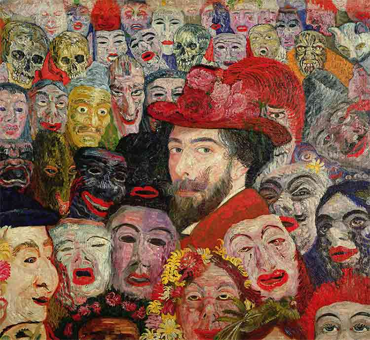 James Ensor Masks Paintings & Eyes Wide Shut Movie