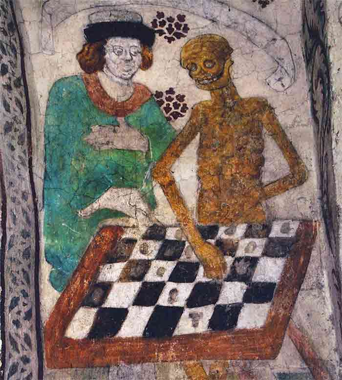 Albertus Pictor, Chess Death Allegory