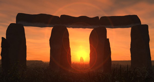 Summer Solstice Sunrise Framed in Stonehenge Heel Stone
