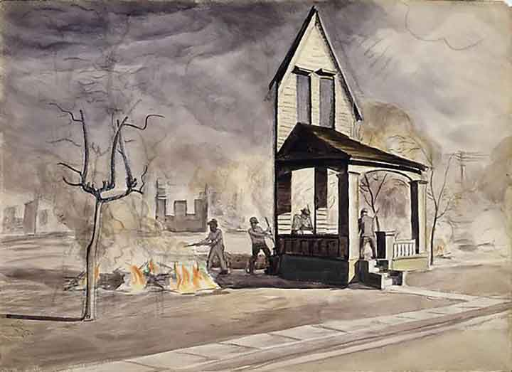 Charles Burchfield The Builders: Haunted House Pictures, Uncanny House of Leaves