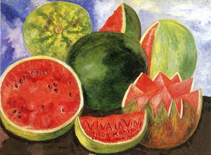 Frida Kahlo Viva La Vida (1954) watermelons painting