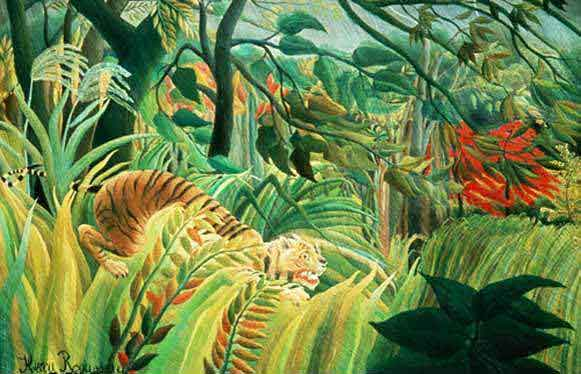 Henri Rousseau - Tiger in a Tropical Storm (Surprised) Meaning, Life of Pi